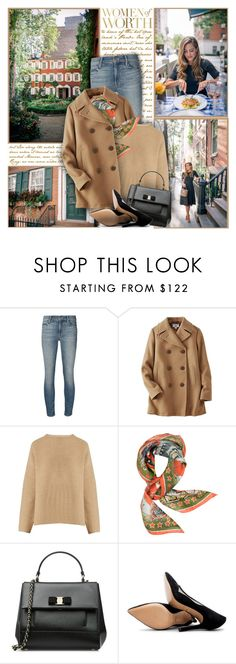 """Women of Worth"" by winala ❤ liked on Polyvore featuring Mother, Trilogy, Uniqlo, Nili Lotan, Roberto Cavalli, Salvatore Ferragamo and Pour La Victoire"