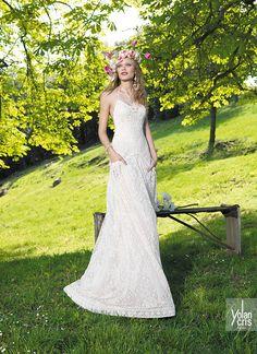 vestido de novia con bolsillos