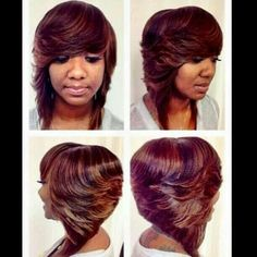 Pleasing Layered Bobs Black Women And Layered Bob Hairstyles On Pinterest Hairstyles For Women Draintrainus