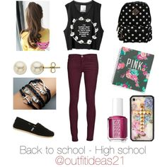 Outfit idea; back to school - high school
