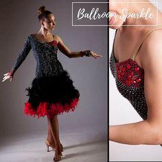 That lovely shimmer of oh-so-many applied on a designed by Ballroom Dancing, Ballrooms, Good Job, Dance Wear, New Dress, Rhinestones, Designer Dresses, Ballet Skirt, Sparkle