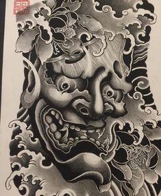 Clavicle Tattoo, Hannya Mask Tattoo, Hanya Tattoo, Demon Tattoo, Samurai Tattoo, Japanese Tattoo Art, Japanese Tattoo Designs, Japanese Sleeve Tattoos, Japanese Art