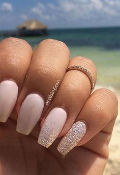 100 Beautiful wedding nail art ideas for your big day - pink nail, bride nails, . - - 100 Beautiful wedding nail art ideas for your big day - pink nail, bride nails, romantic nail art ideas Simple Wedding Nails, Wedding Nails For Bride, Wedding Nails Design, Bride Nails, Nail Wedding, Elegant Bridal Nails, Elegant Wedding, Wedding Cake, Wedding Bands