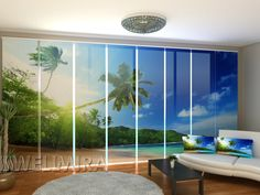 Set of 8 Panel Curtains Ocean  #Wellmira #ModernCurtains #PanelCurtains #Curtains #JapaneseCurtains #Fotogardine #Schiebevorhang #Flächenvorhang #Schiebegardine  #Palm #Sea #Sand https://wellmira.com/collections/sets-of-8-panel-curtains/products/set-of-8-panel-curtains-ocean?variant=25757672583