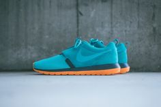 "Nike Roshe Run NM Dusty Cactus/Spruce Blue: Nike's popular Roshe Run silhouette will be releasing in this colorful ""Dusty Cactus/ Spice Blue"" Nike Free Shoes, Running Shoes Nike, Ankle Shoes, Men's Shoes, Roshe Shoes, Shoe Sites, Everyday Shoes, Nike Roshe Run, Plimsolls"