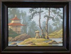 Vintage Paint By Number Pagoda by goodlifevintage on Etsy, $25.00
