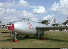 Mikoyan-Gurevich MiG-9 ~ One of the first of Soviet jet planes at the historical part of MAKS-2003.