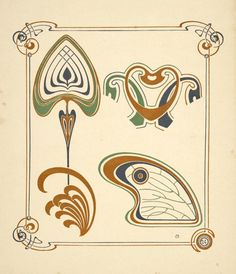 [Abstract design based on wings and leaf shapes.] - ID: 1553708 - NYPL Digital Gallery