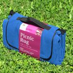Picnic blanket with water resistant material underneath