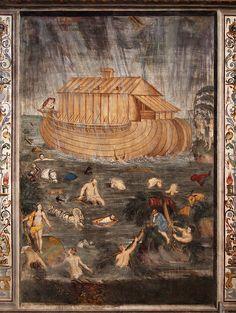 Aurelio Luini - the flood - Fresco in the Chiesa di San Maurizio, Milano    #TuscanyAgriturismoGiratola