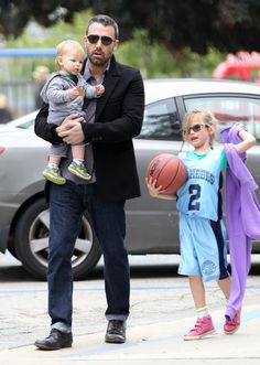 Ben Affleck carried Samuel and chatted with Violet during a family trip to an LA park in March 2012