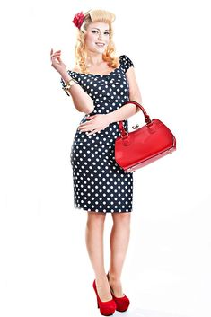 Dolores Dress Polka Collectif Mainline Clothes Dresses, Pin-Up, Dolores Pencil Dress, Dotty for Dolores @ Collectif and Vintage Style Clothing and Rockabilly Collection Vintage Outfits, Vintage Style Shoes, Retro Outfits, Vintage Clothing, Vintage Dresses, Fifties Fashion, Retro Fashion, Vintage Fashion, Pin Up Kleidung