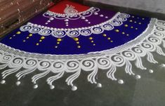Check out this rangoli design 2016 collection. These rangoli designs are mind-blowing, create it in your courtyard, pooja room or at entrance of the house. Easy Rangoli Designs Diwali, Rangoli Simple, Simple Rangoli Designs Images, Rangoli Designs Latest, Rangoli Designs Flower, Free Hand Rangoli Design, Rangoli Border Designs, Small Rangoli Design, Rangoli Patterns