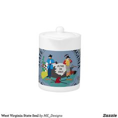 West Virginia State Seal Teapot