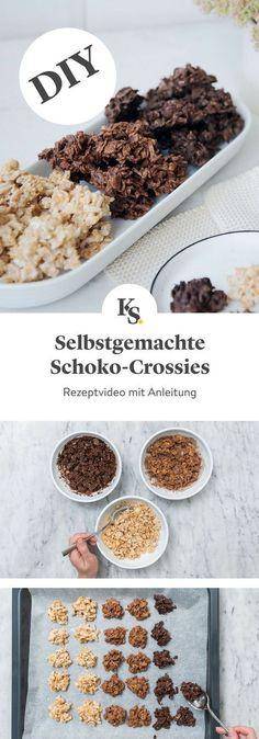 Der beliebte Snack aus Cornflakes und Schokolade ist unglaublich einfach selbst herzustellen – unser Rezeptvideo zeigt dir, wie du Schoko-Crossies in drei verschiedenen Varianten selbstmachen kannst. #schokocrossies #diy #schokolade #cornflakes