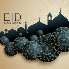 Islamic design for eid mubarak festival vector image on VectorStock Carte Eid Mubarak, Images Eid Mubarak, Eid Mubarak Wünsche, Eid Mubarak Quotes, Eid Quotes, Eid Mubarak Greeting Cards, Eid Mubarak Greetings, Eid Cards, Eid Mubarak Photo