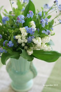 Lily of the valley & Forget me not