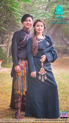 Tibetan traditional dress #Chupa Folk Fashion, Asian Fashion, Traditional Fashion, Traditional Dresses, Tibetan Clothing, Asian History, Character Outfits, Folk Style, Style Inspiration