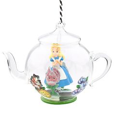 Alice in Wonderland Glass Teapot Ornament | Ornaments | Disney Store