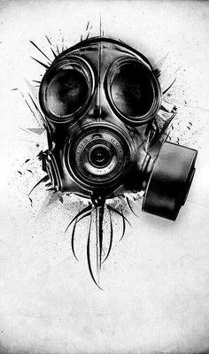Death Blooms – Graffiti World Tattoo Design Drawings, Tattoo Sketches, Cool Drawings, Art Sketches, Tattoo Designs, Gas Mask Art, Masks Art, Gas Mask Drawing, Gas Masks