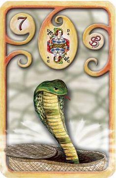 Baralho Cigano – A Serpente - Carta 7 - Linha das Águas