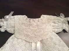 baby Andrea christening gown crochet pattern por PatternsbyHalina