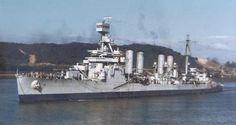 Omaha-class Light Cruiser USS Concord at the Panama Canal in 1943. Read the article at www.Vintage-America.com.