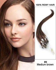 16inch 50g Micro Loop Human Hair Extensions #4 100% Remy Human Hair High Quality Very Soft Hair Extensions