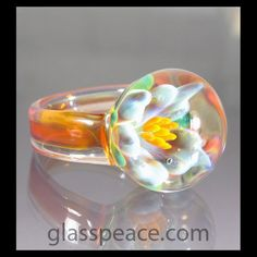 My new obsession! blown glass rings...