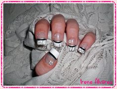 Baby Pink's World - Nail Art. My Nails, Manicure, Rings For Men, Nail Art, Pink, Beauty, French, Design, White French Tip