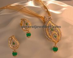 Jewellery Designs: Gorgeous Pendant Earrings by Kalyan