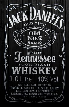 Jack Daniels Label Party Whiskey Daniel Oconnell