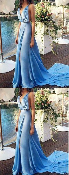 lovingdress sexy cheap prom dresses,A-line V-neck Floor-length Chiffon Prom Dresses Evening Dresses on Storenvy
