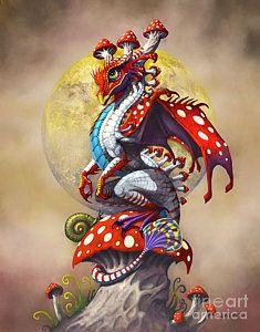 Dragons Digital Art - Mushroom Dragon by Stanley Morrison