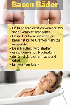 So wirst du Cellulite mit einem Basen Bad wieder los So you get rid of cellulite with a base bath. Beauty Secrets, Diy Beauty, Beauty Hacks, Hair St, Best Short Haircuts, Long Faces, Anti Cellulite, Cute Hairstyles, Beauty Tips