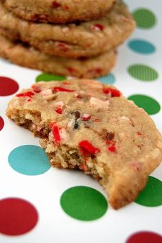 peppermint choco chip christmas cookies