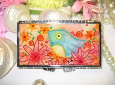 Pill Case, 7 day Pill Box, Pill Box, 7 Sections, Pill Container, Best Friend Gift, Gift for Her, Medicine Organiser, Watercolour Bird. by RubysNeedfulGifts on Etsy