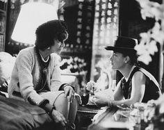 Coco Chanel & Romy Schneider. Picture by Milton Greene - 1963