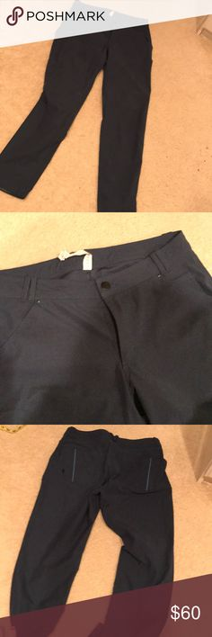 Lululemon city pants Excellent used condition city pants, great for hiking or just running errands smoke free home.  I believe the color is Alberta lake, it's like a dark teal lululemon athletica Pants Straight Leg
