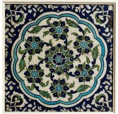 Tile; Damascus (Syria), ca. 1550-1600