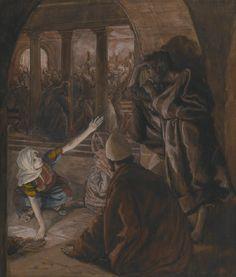 James Tissot - Le troisième reniement de Saint Pierre, Le regard de reproche de Jésus