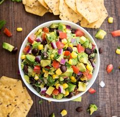 Corn and Black Bean Guacamole #recipe via Like Mother Like Daughter http://www.yummly.com/recipe/Corn-and-Black-Bean-Guacamole-1592849