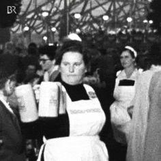 New party member! Tags: vintage retro beer service bayern munich oktoberfest bavaria bier waitress muenchen volksfest wiesn beer mug beer jug biermass masskrug bedienung