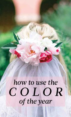 """9 Ways to Use Pantone's Color of the Year """"Rose Quartz"""" in Your Wedding Pastel Wedding Colors, Hair Flowers, Martha Stewart Weddings, Color Of The Year, Pantone Color, Girly Girl, Rose Quartz, Hue, Our Wedding"""