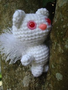 White Squirrel - Free by Charlotte W. of Nyan Pon | Woodland Creatures - Animal Crochet Pattern Round Up - Rebeckah's Treasures