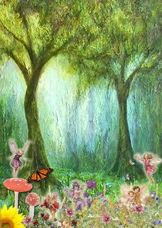 Fairy Party (with Printables) Blank Invitation - Enchanted forest with Flower Fairies - customise with your own wording Enchanted Forest Nursery, Enchanted Forest Party, Garden Birthday, Fairy Birthday Party, 5th Birthday, Woodland Fairy, Forest Fairy, Fairy Invitations, Birthday Invitations