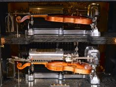 This rare Mills Novelty Company, De Luxe Violano Virtuoso plays TWO violins AND a piano, simultaniously!! ~ M.S. Rau Antiques