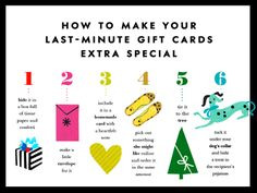 how to make your last-minute gift cards extra special