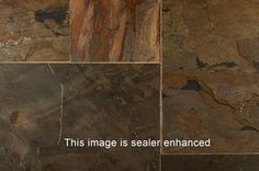 BuildDirect – Slate Tiles - Versailles Pattern – Midnight Gold - Close View