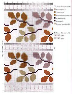 mittens & mittens: Схемы для вязания Cross Stitch Borders, Cross Stitch Flowers, Cross Stitch Designs, Cross Stitching, Cross Stitch Embroidery, Embroidery Patterns, Cross Stitch Patterns, Crochet Patterns, Knitting Paterns
